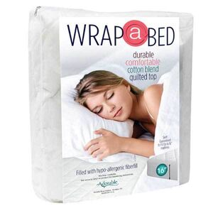 Wrap-A-Bed Quilted Fitted Mattress Pad