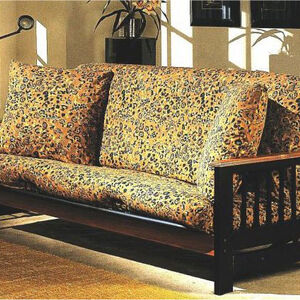 Full Size Safari Leopard Futon Cover